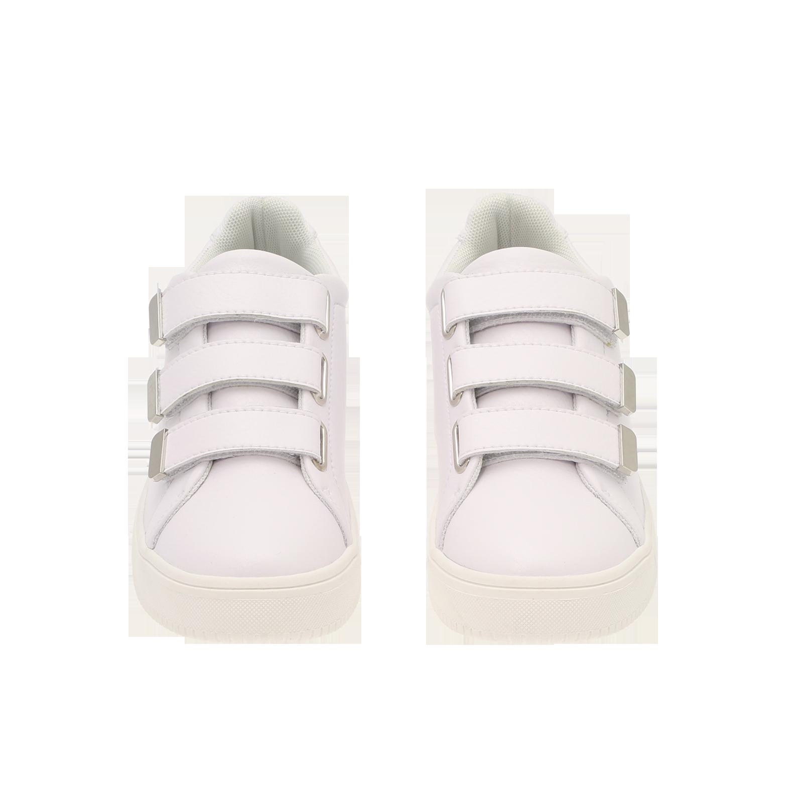 hvite sko med borrelås